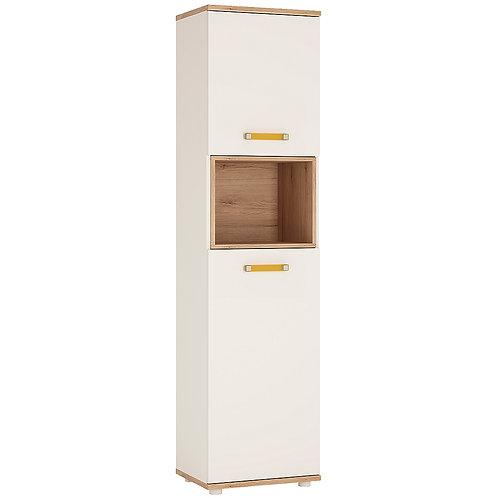 4Kids Tall 2 Door Cabinet With Orange Handles