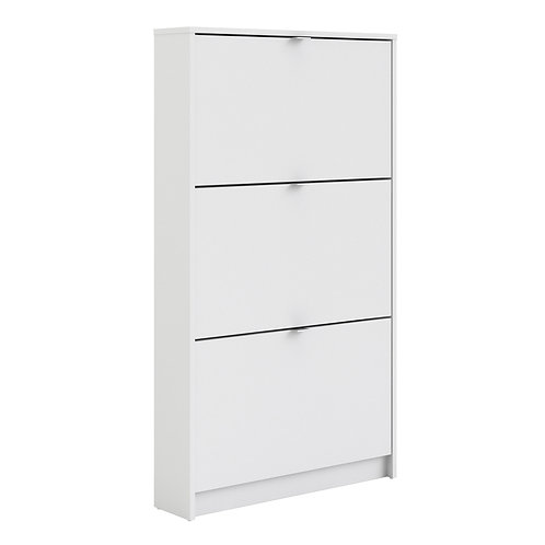 Shoe Cabinet With 3 Tilting Doors And 1 Layer