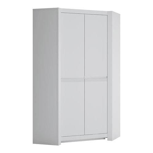 Novi 2 Door Corner Wardrobe In Alpine White