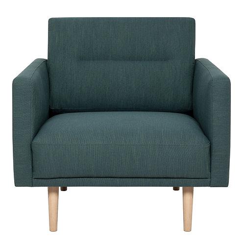 Larvik Armchair Dark Green With Oak Legs