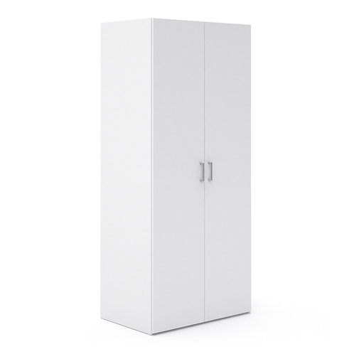 Space Wardrobe With 2 Doors White
