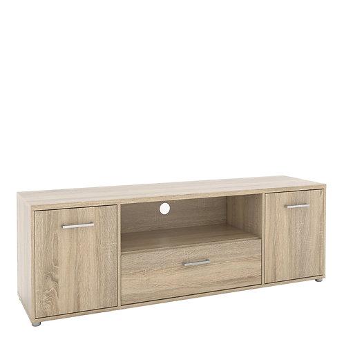 Match TV Unit 2 Doors 1 Drawer 1 Shelf In Oak