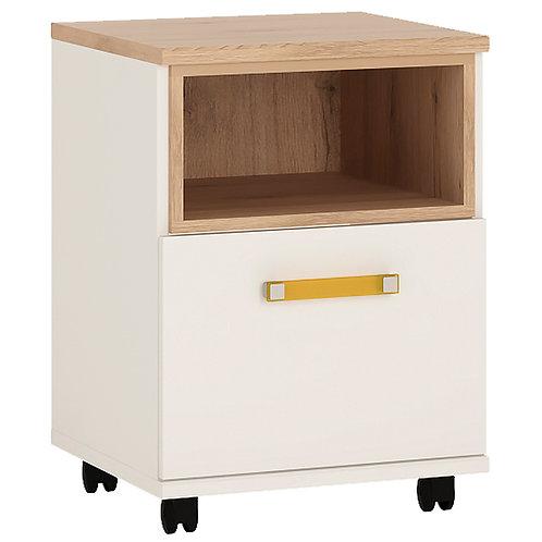 4Kids 1 Door Desk With Orange Handles