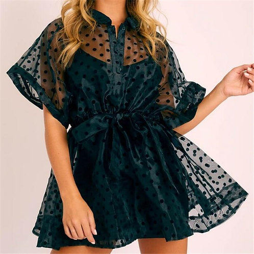 Mesh Collar Cover Up
