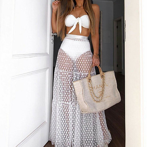 Maxi Wrap Long Skirt Cover Up