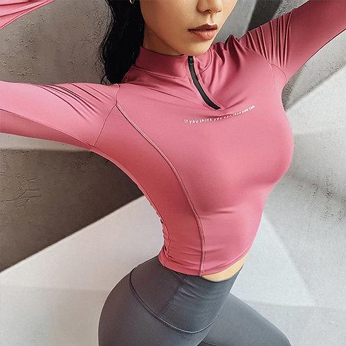 Long Sleeve Push Up Workout Jacket