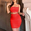 Thumbnail: Ruched Bodycon Neon Set (Skirt & Top)
