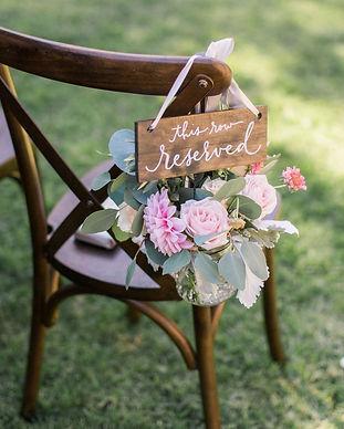 Hand-lettered rental wedding signage