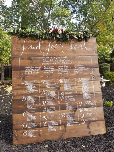 Custom Wedding Signage