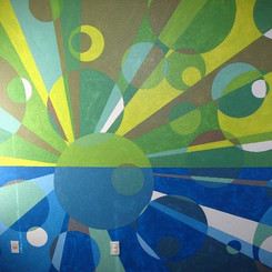 Residential geometric mural