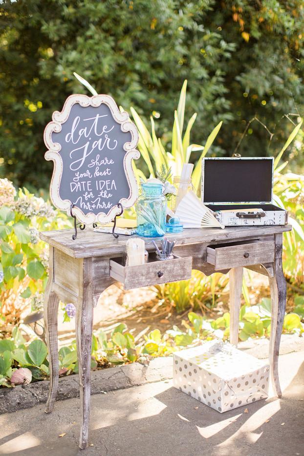 Date Jar sign on chalkboard rental (Allison D Photography)