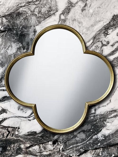 R048 - Gold Quatrefoil Mirror