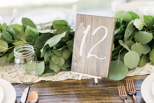 R019 - Wooden Table Numbers