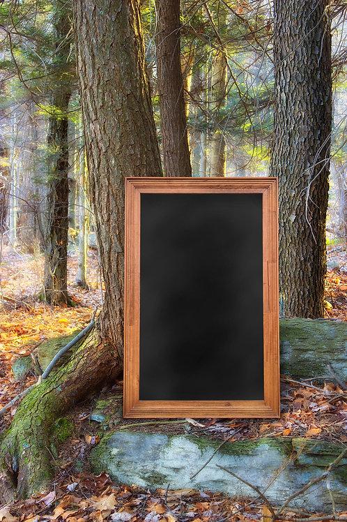 R045 - Wood Framed Chalkboard