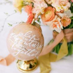 Decorative globe as wedding decor
