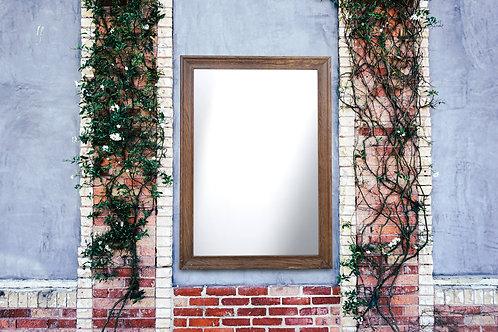 R020 - Rustic Wood Framed Mirror