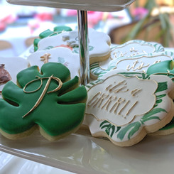 Lettering for custom baby shower cookies