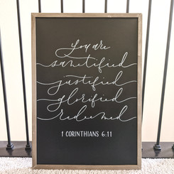 Chalkboard sign with quote