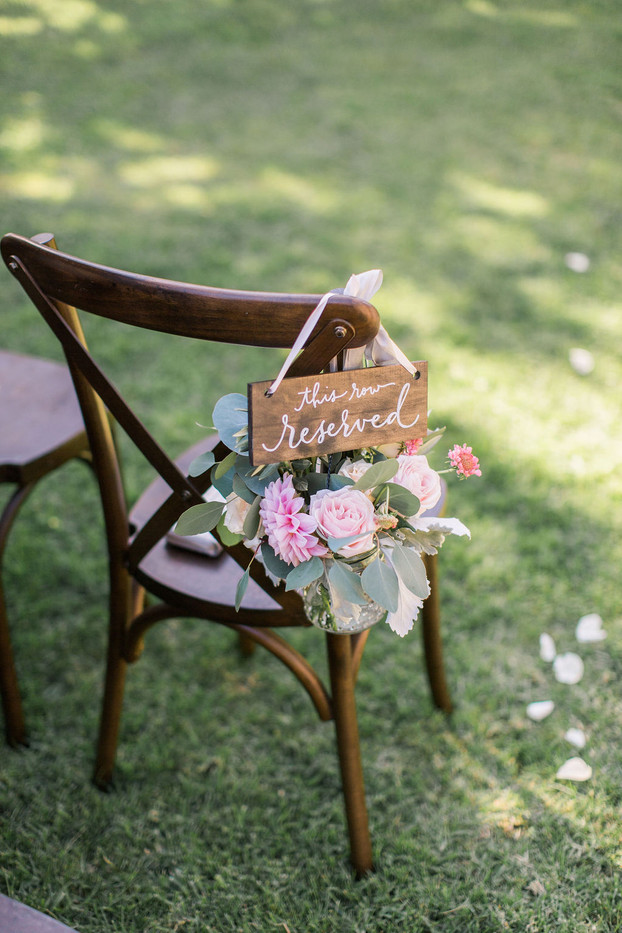 Reserved Row rental sign (Allison D Photography)