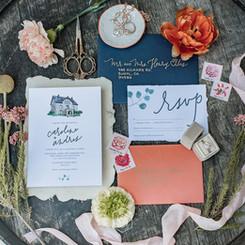 Semi-custom invitation suite