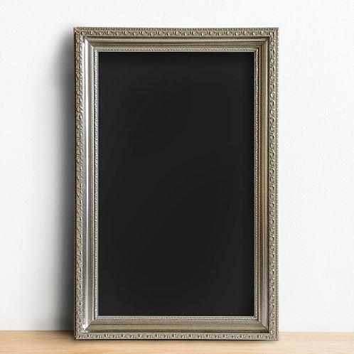 R038 - Silver Framed Chalkboard