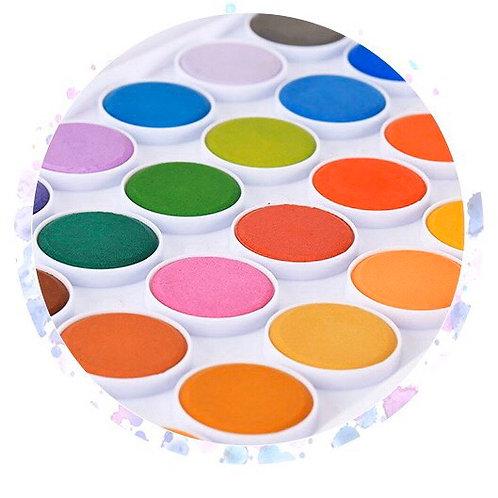 固形水彩絵の具 36色