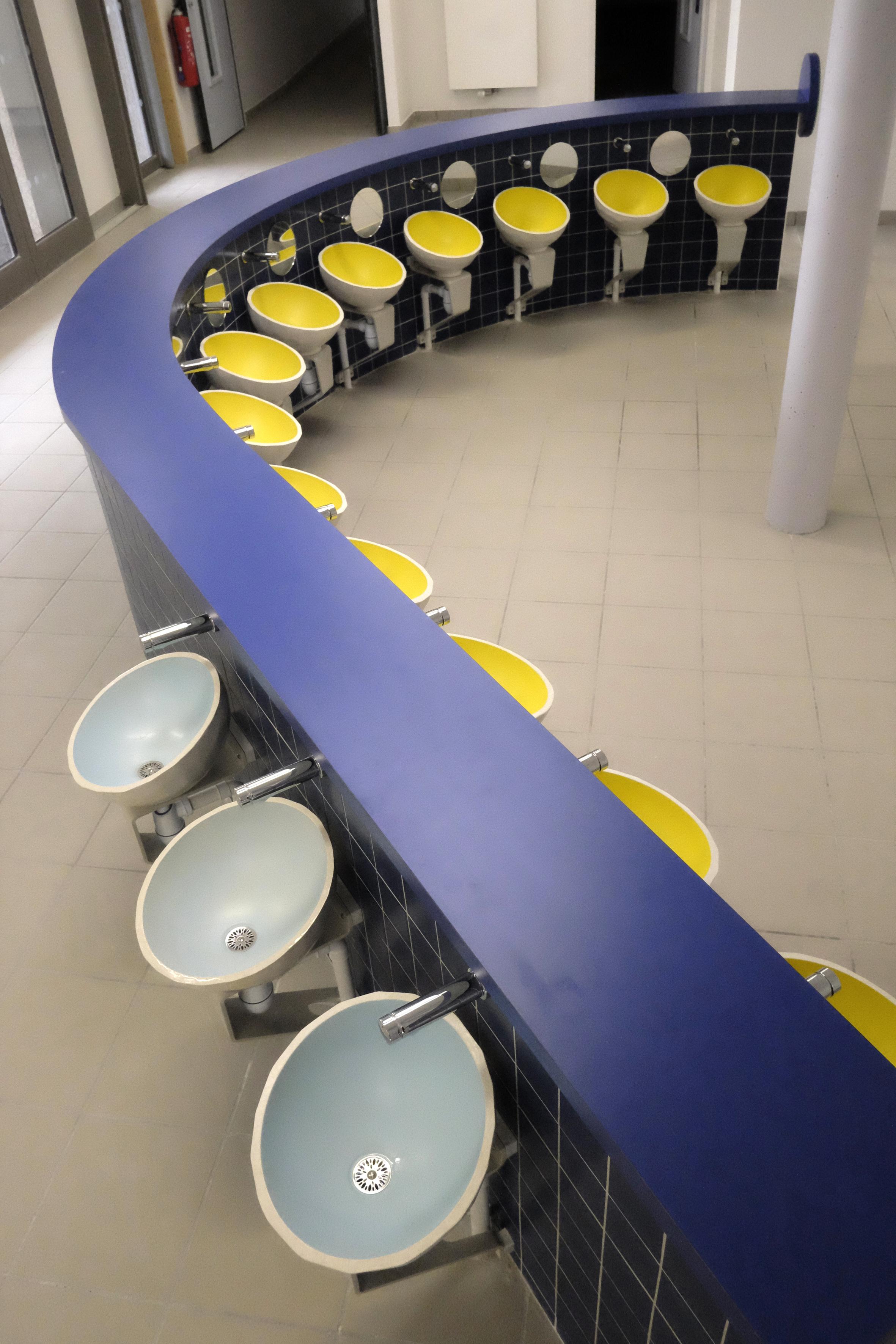 Vasques de la partie sanitaires