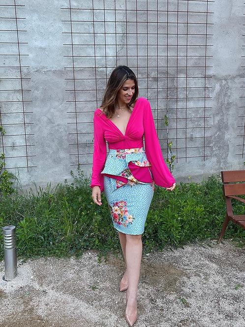 Falda lunares y flores