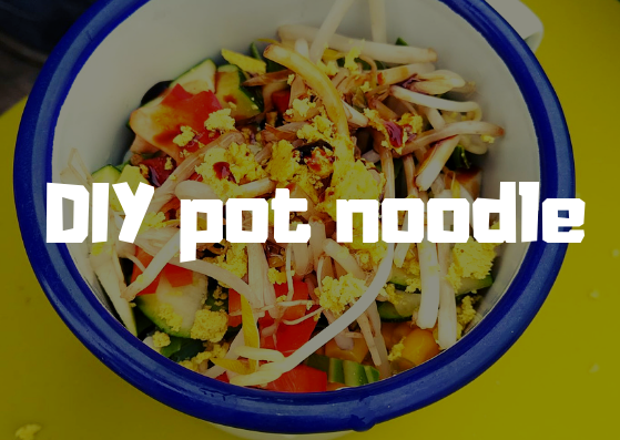 Outdoor Community Cooking Recipes #1 DIY Pot Noodle