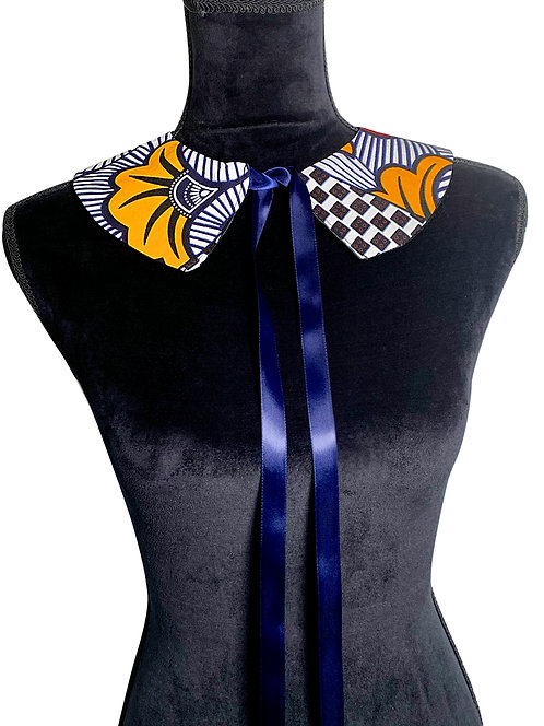Ankara peter pan collar with ribbon tie