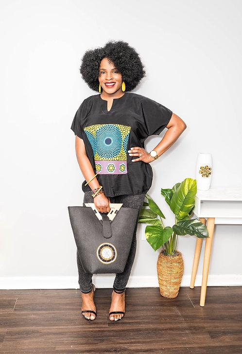 """fun-filled""African print top for women, ankara top"
