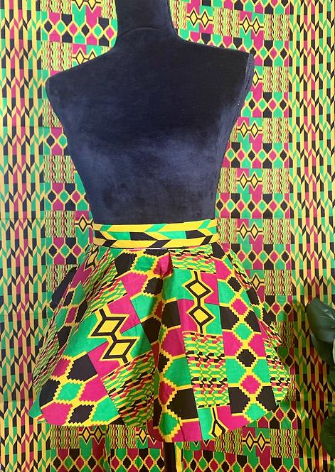 """""""Kente"""" African print peplum belt"""