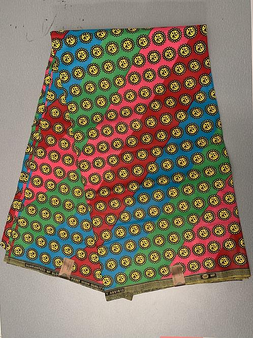 African fabric/ 6 yards/ Tribal print fabric/ Real African wax/ Ankata fabric
