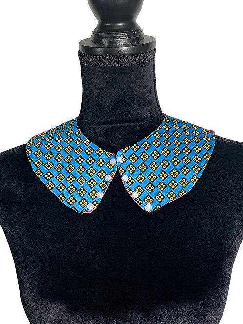 Ankara Peter pan collar embellished with pearls, Detachable collar,