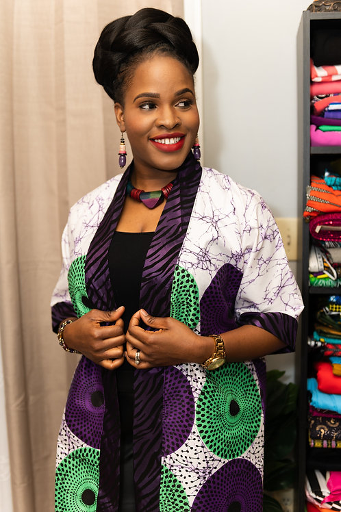 """Faith"" African Print Kimono"