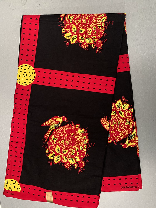 African fabric/ 6 yards/ Tribal print fabric/ 100% cotton/ African fabric