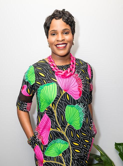 """Lover"" African print dress for women"