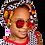 Thumbnail: Black, white, yellow & red bow headband