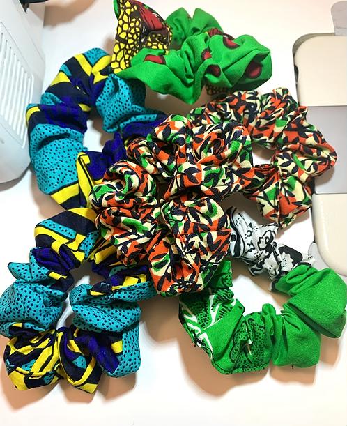 Ankara Scrunchies
