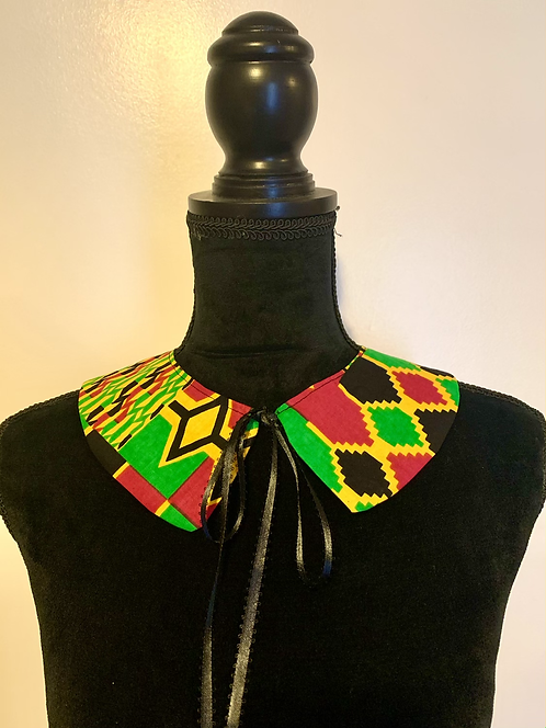 Kente African print detachable collar