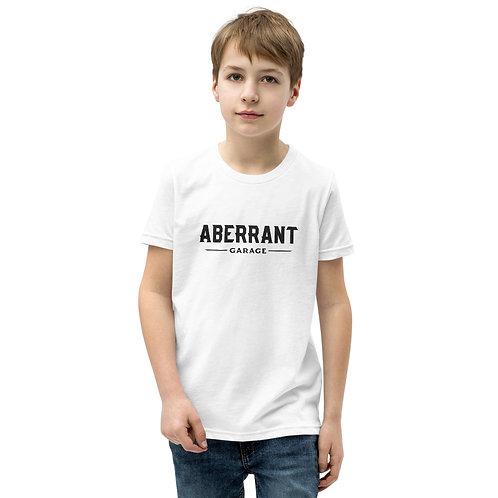 Youth Simple Black Logo Short Sleeve T-Shirt