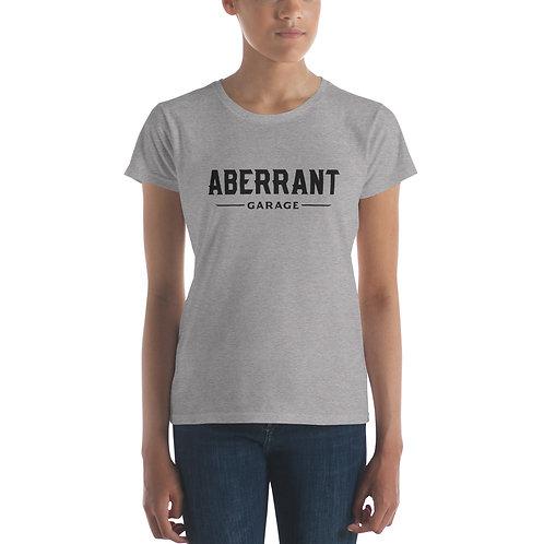 Women's Simple Black Short Sleeve T-Shirt
