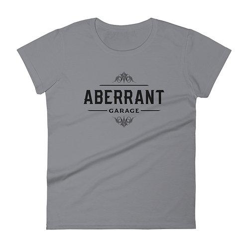 Women's Vintage Black Short Sleeve T-Shirt