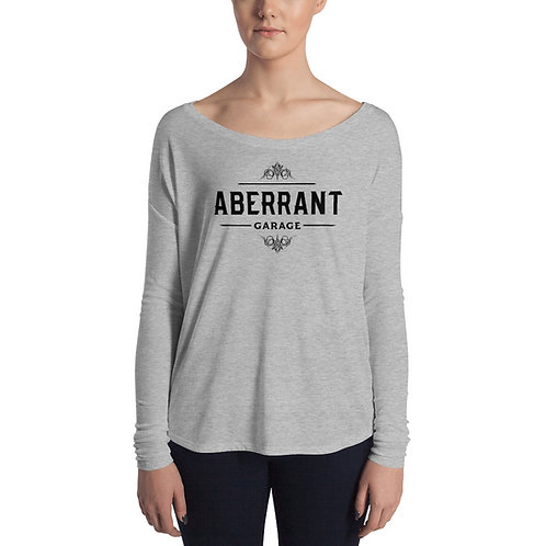 Women's Vintage Black Long Sleeve T-Shirt