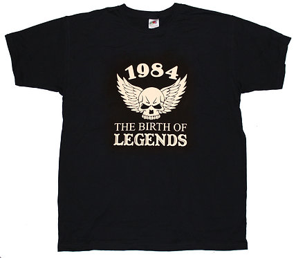 "T-shirt ""Årtal"" the birth of legends"