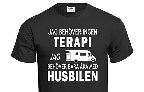 T-shirt Jag behöver ingen TERAPI jag behöver bara åka med Husbilen Ver 3