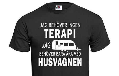T-shirt Jag behöver ingen TERAPI jag behöver bara åka med Husvagnen ver2