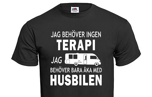 T-shirt Jag behöver ingen TERAPI jag behöver bara åka med Husbilen Ver 2