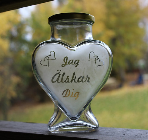 Hjärta i glas 580ml
