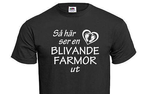 T-shirt Så här ser en blivande FARMOR ut